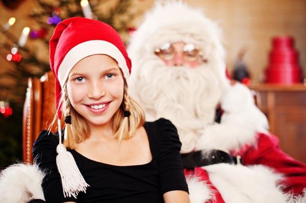 When should kids learn the Santa story?