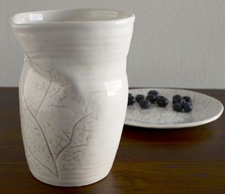 Textured botanical pitcher