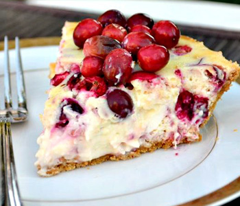 Vegan cranberry orange cheesecake
