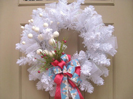 White winter wonderland wreath