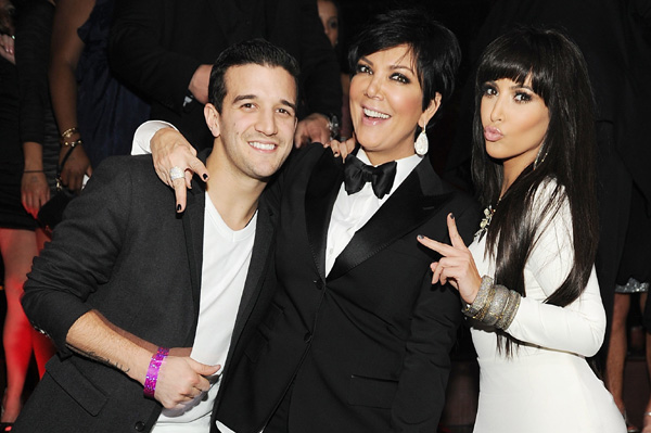 Kim Kardashian, Kris Jenner, Mark Ballas New Year's Eve 2011