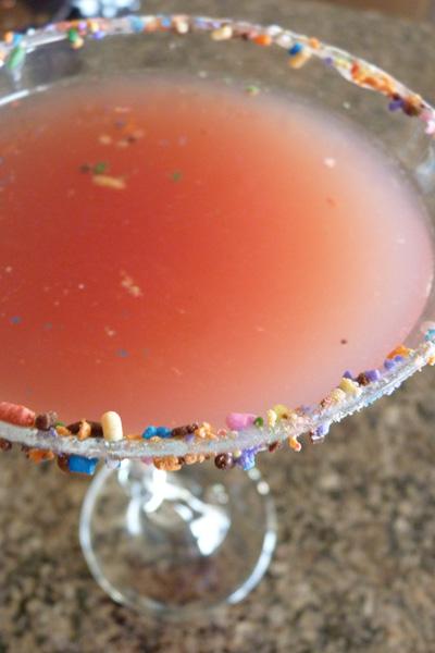 Pink cupcake martini
