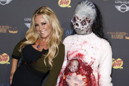 Bridget Marquardt celebrating Halloween