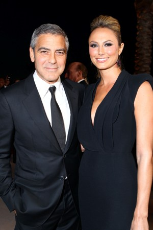 George Clooney and girlfriend Stacy Keibler at the Palm Springs Film Festival