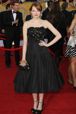 SAG Awards Best Dressed -- Emma Stone