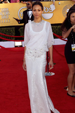 SAG Awards Worst Dressed -- Zoe Saldana