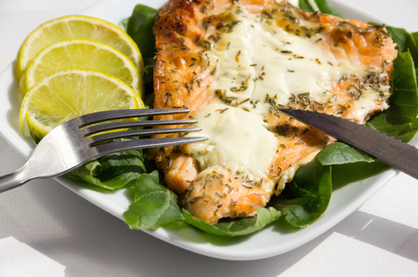 Salmon is good mood food