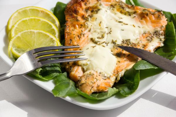 Salmon is good mood food
