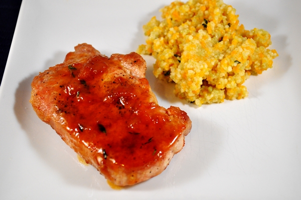 Apricot jam makes the perfect glaze