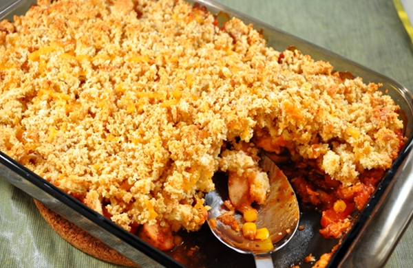 ... Adding a tangy BBQ sauce makes this casserole a kid favorite as well