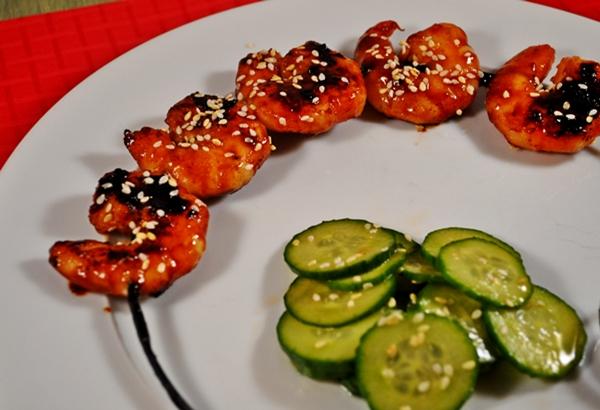 Hoisin sauce makes shrimp sweet
