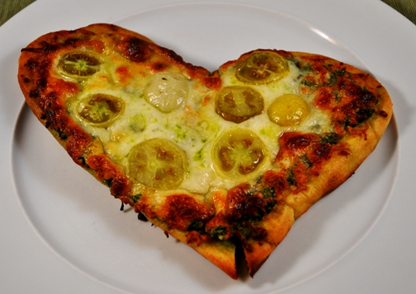 Kale pesto makes a healthy pizza sauce