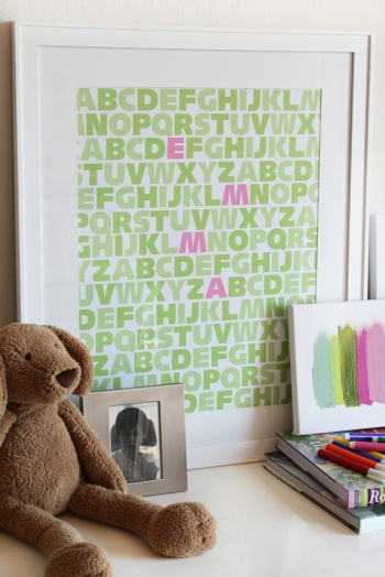 Modern nursery -- ABC Wall art