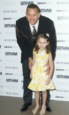 Alex Rodriguez and daughter Natasha