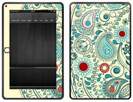 Amazon Kindle Fire vintage paisley skin cover
