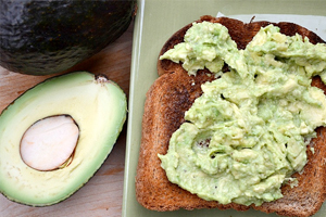 Afternoon snack: Avocado toast
