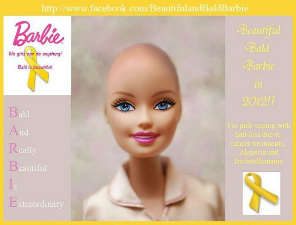 Beautiful and BALD BARBIE Facebook campaign