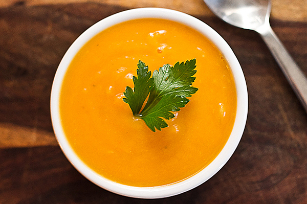 Butternut squash soup recipe with carrots and potatoes