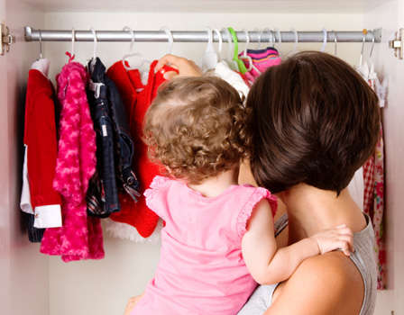 Swap your children's clothes with friends