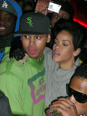 Chris Brown and Rihanna party together in Hollywood