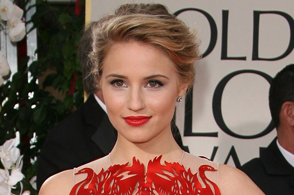 Dianna Agron at the 69th Annual Golden Globes