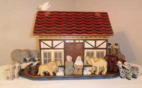 Noah's Ark wood toy set