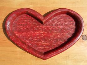 Valentine wooden tray