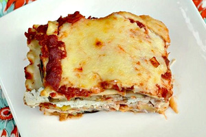 Eggplant and vegetable lasagna