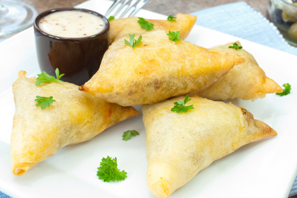 Fresh fig and goat cheese phyllo triangles recipe
