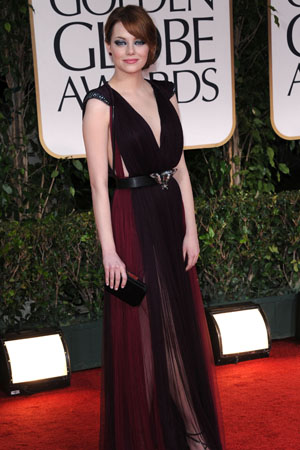 Golden Globes Best Dressed Emma Stone