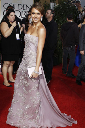 Golden Globes Best Dressed Jessica Alba