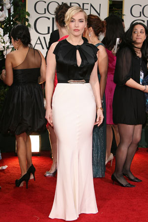 Charlize Theron wows in pale pink Dior