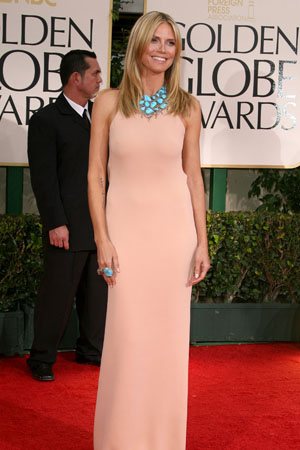 Golden Globes Worst Dressed Heidi Klum