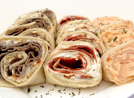 Gridiron tortilla roll-ups