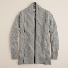 Cozy cashmere shawl collar cardigan