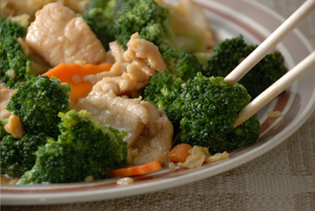 Homemade chicken with broccoli