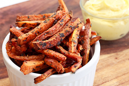 Sweet potato carrot fries
