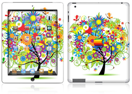 Apple iPad 2 color blast skin cover