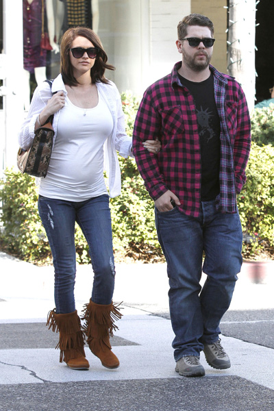 Jack Osbourne and his pregnant girlfriend Lisa Stelly