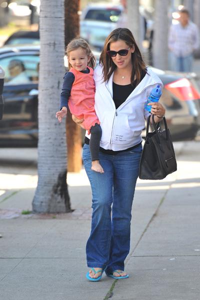 Pregnant Jennifer Garner and Seraphina