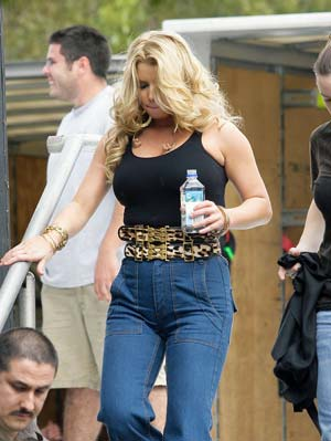 Jessica Simpson at a 2009 chili cook-off in Florida