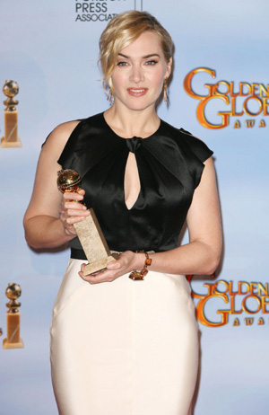 Kate Winslet at Golden Globe awards