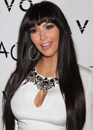 Kim Kardashian's recent bang change