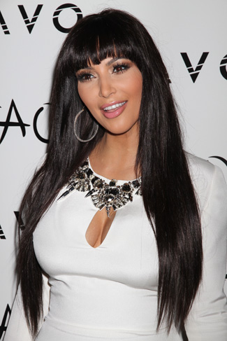 Kardashian  Bangs on Kim Kardashian S New Bangs