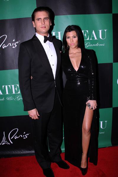 Pregnant Kourtney Kardashian and Scott Disick New Year's Eve
