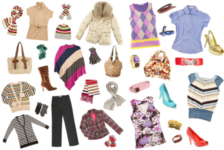 Ladies fashion items