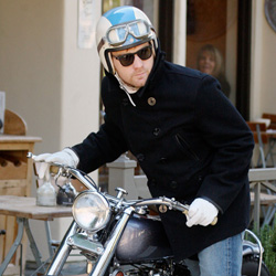 Ewan McGregor on motorcycle