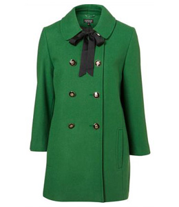 Going green - double breasted coat