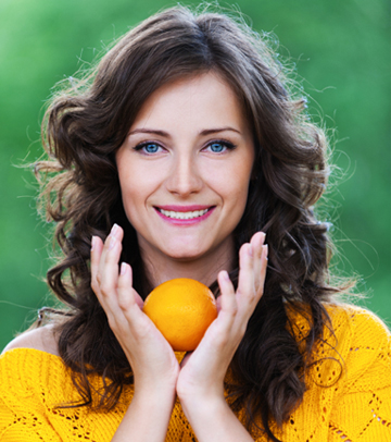 Mom with orange