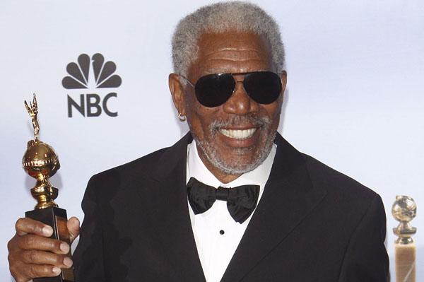 Morgan Freeman honored at the Golden Globes